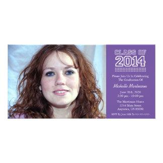 Varsity Class Of 2014 Graduation Plum Purple Photo Greeting Card