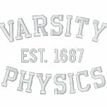 VARSITY, PHYSICS, EST. 1687 black and white Polos
