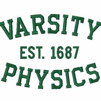 VARSITY, PHYSICS, EST. 1687 green and white Polo