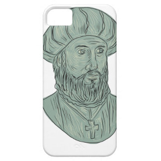 Vasco da Gama Explorer Bust Drawing Barely There iPhone 5 Case