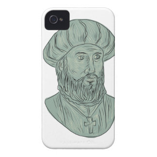 Vasco da Gama Explorer Bust Drawing Case-Mate iPhone 4 Cases