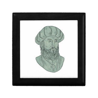 Vasco da Gama Explorer Bust Drawing Gift Box
