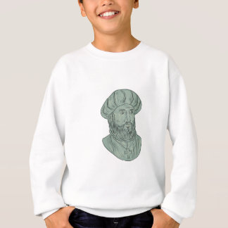 Vasco da Gama Explorer Bust Drawing Sweatshirt