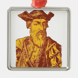 Vasco Da Gama Metal Ornament