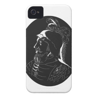Vasco Nunez de Balboa Conquistador Woodcut Case-Mate iPhone 4 Cases