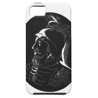 Vasco Nunez de Balboa Conquistador Woodcut iPhone 5 Cover