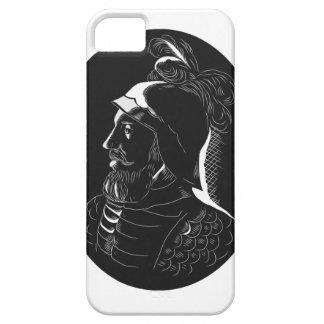 Vasco Nunez de Balboa Conquistador Woodcut iPhone 5 Covers