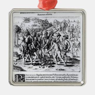 Vasco Nunez de Balboa Metal Ornament