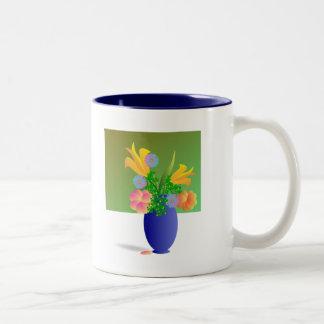 Vase Bouquet Two Tone Coffee Mug