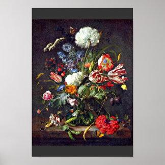 Vase By Heem Jan Davidsz De (Best Quality) Poster