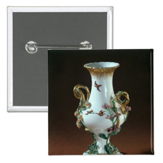 Vase Duplessis' with gold decoration 15 Cm Square Badge