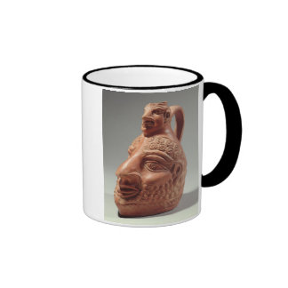 Vase in shape of double head, c.400 AD (pottery) Coffee Mugs