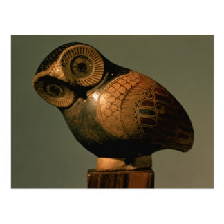 Vase in the form of an owl, Proto-Corinthian Postcard