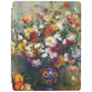 Vase of Chrysanthemum Flowers Renoir Fine Art iPad Cover