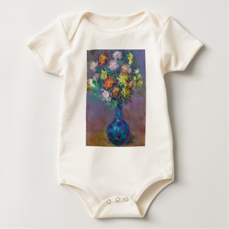 Vase of Chrysanthemums Claude Monet Baby Bodysuit