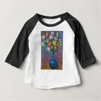 Vase of Chrysanthemums Claude Monet Baby T-Shirt