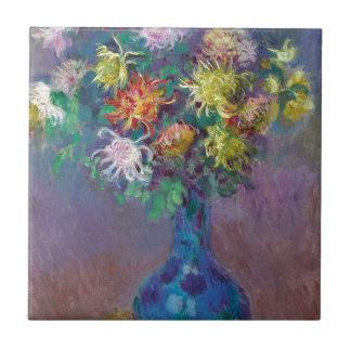 Vase of Chrysanthemums Claude Monet Ceramic Tile