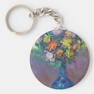 Vase of Chrysanthemums Claude Monet Key Ring