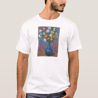 Vase of Chrysanthemums Claude Monet T-Shirt