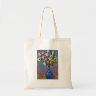 Vase of Chrysanthemums Claude Monet Tote Bag