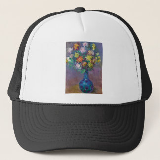 Vase of Chrysanthemums Claude Monet Trucker Hat