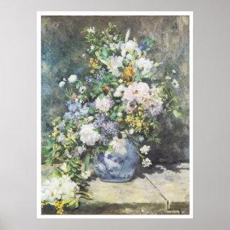 Vase of Flowers, 1886 Pierre-Auguste Renoir Poster