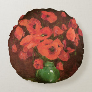 Vase of Flowers 2 Round Cushion