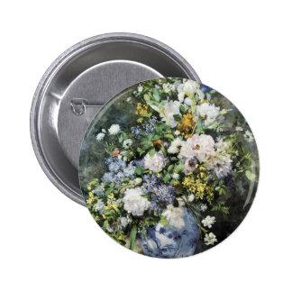 Vase of Flowers 6 Cm Round Badge