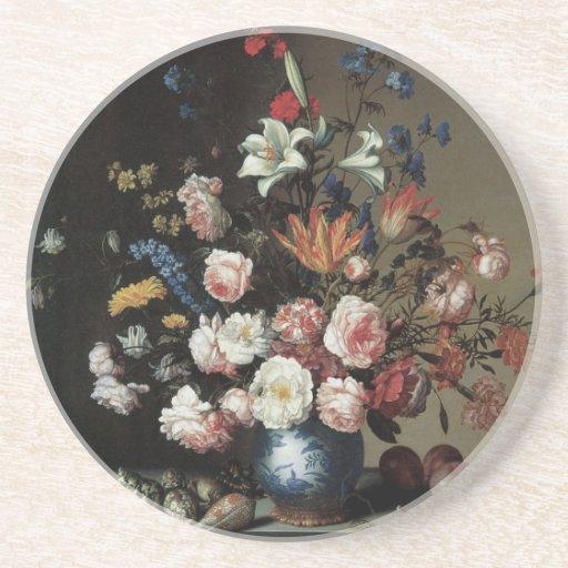 Vase of Flowers by a Window, Balthasar van der Ast Beverage Coaster