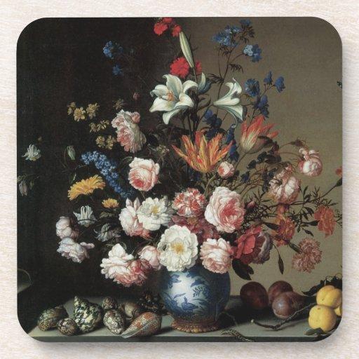 Vase of Flowers by a Window, Balthasar van der Ast Coasters