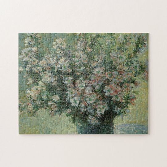 Vase of Flowers by Claude Monet, Vintage Fine Art Jigsaw Puzzle