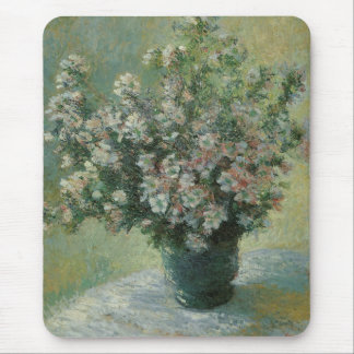 Vase of Flowers by Claude Monet, Vintage Fine Art Mouse Pad