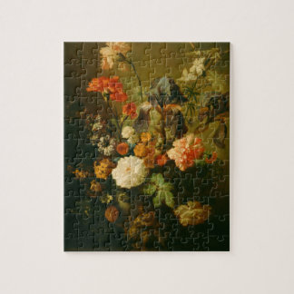 Vase of Flowers by Jan van Huysum Jigsaw Puzzle