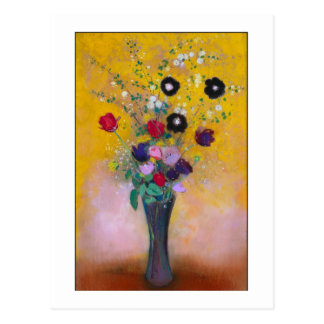 Vase of Flowers by Redon Postcard