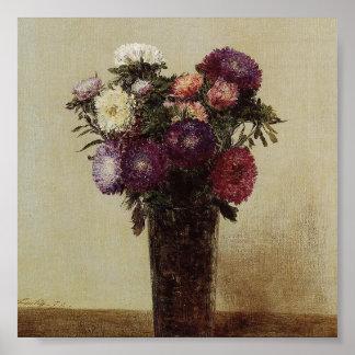 Vase of Flowers Fantin-Latour Poster
