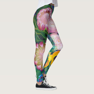 Vase of Flowers -- Proteas, Tulips and Roses Leggings