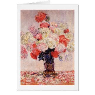 Vase of Peonies by Claude Monet Card