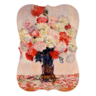 Vase of Peonies Monet Fine Art Bridal Shower 13 Cm X 18 Cm Invitation Card