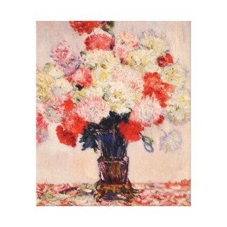 Vase of Peonies Monet Fine Art Canvas Prints