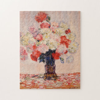 Vase of Peonies Monet Fine Art Jigsaw Puzzles