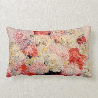 Vase of Peonies Monet Fine Art Throw Cushions