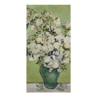 Vase of Roses by Vincent Van Gogh Photo Cards