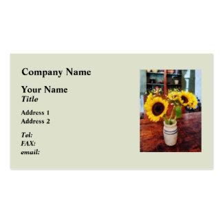 Vase of Sunflowers Pack Of Standard Business Cards