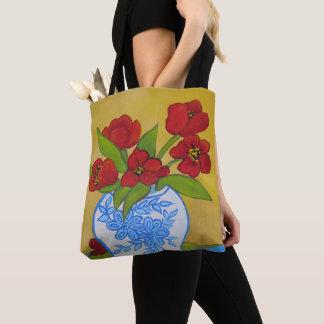 Vase of Tulips Tote Bag