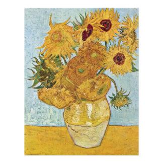 Vase With 12 Sunflowers By Vincent Van Gogh 21.5 Cm X 28 Cm Flyer