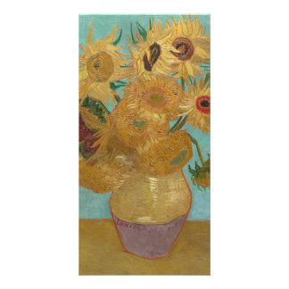 Vase with 12 Sunflowers by Vincent Van Gogh Personalized Photo Card