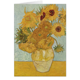 Vase with 12 Sunflowers - Vincent Van Gogh (1888) Card