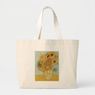 Vase with 12 sunflowers Vincent Van Gogh Tote Bags