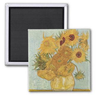 Vase with 12 sunflowers Vincent Van Gogh Fridge Magnets