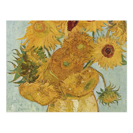 Vase with 12 sunflowers - Vincent Van Gogh Postcard